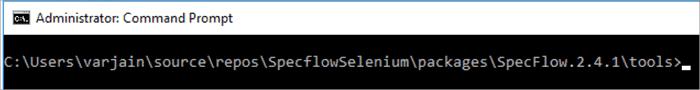 Specflow Console