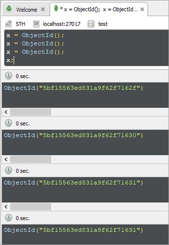 Create ObjectId robo3t