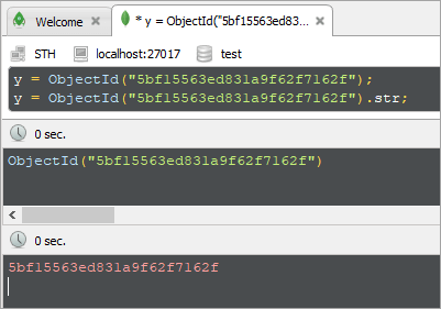 ObjectId Hexadecimal String in robo 3t