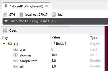 Deactivate Profiling in Robo 3t