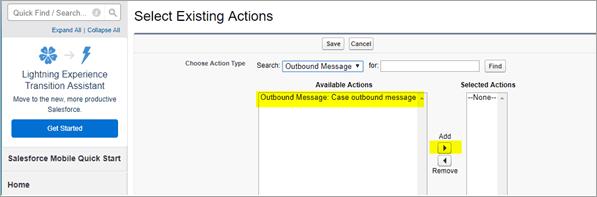 Add Outbound message