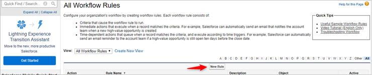 New workflow rule