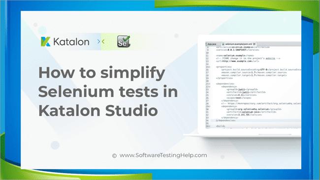 Selenium Tests in Katalon studio
