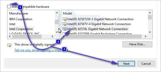 change network adapter