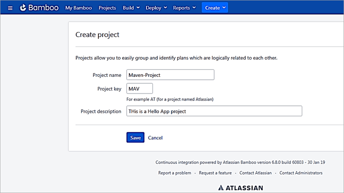 Project name and Description