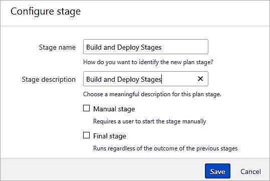 Configure stage