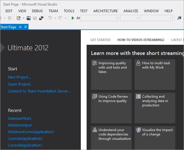 MS Visual Studio on a Windows System