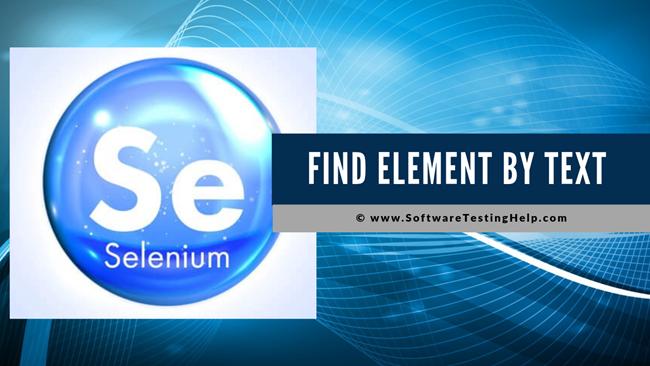 Selenium Find Element