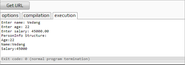 Using structs in functions - Output