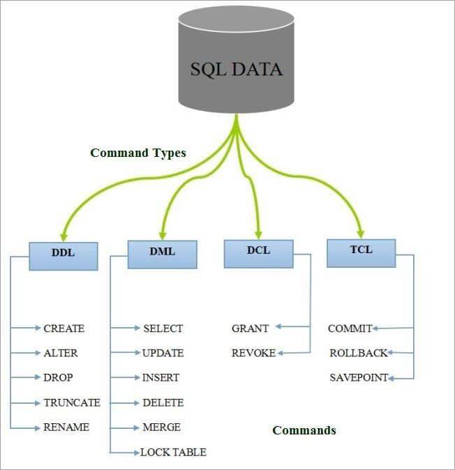 Command Types in SQL