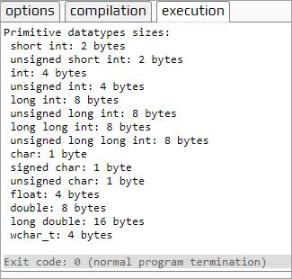 Output - Primitive datatypes