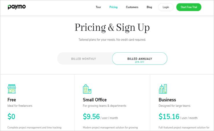 paymo pricing