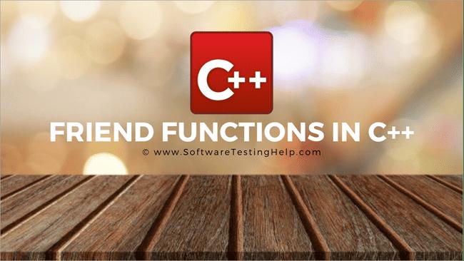 Friend functions in C++ (1)