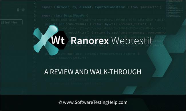 Ranorex Webtestit review