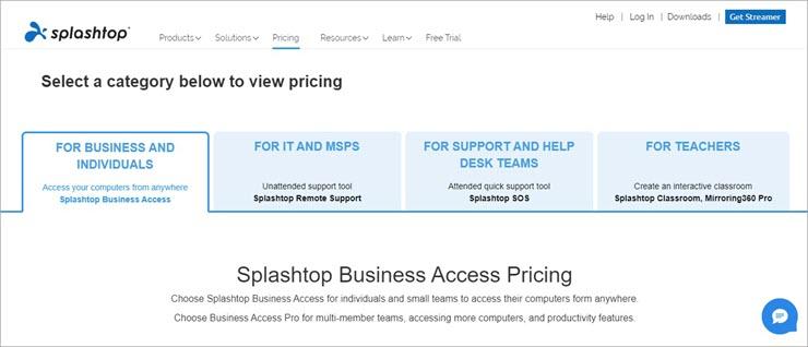 splashtop pricing
