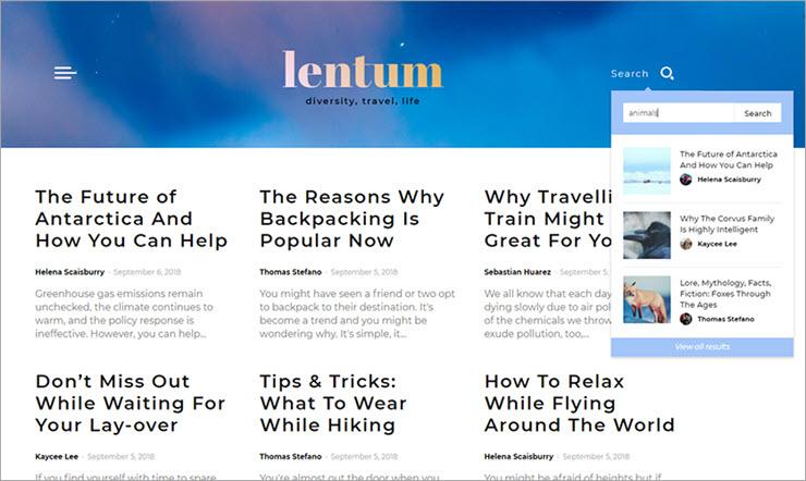 Live-Search-Lentum Website