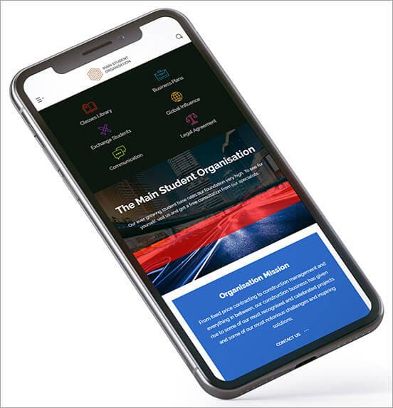 mobile horizontal menu