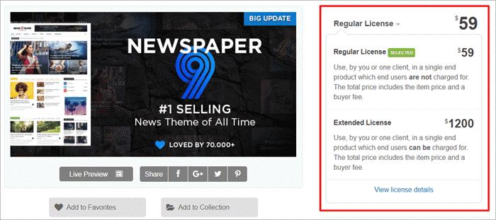 Newspaper-Theme Pricing