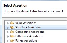 Select XML Assertion Type