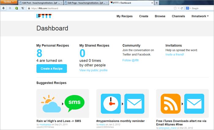 ifttt-dashboard