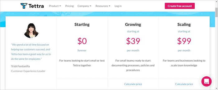 tettra pricing