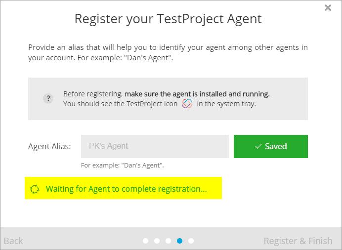 Register Agent next