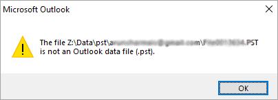 Outlook Mail Break Down Error