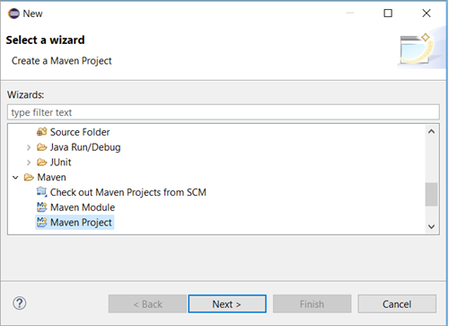 Click on Maven Project