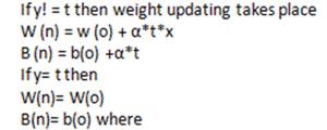 Multiple output perceptron step 7
