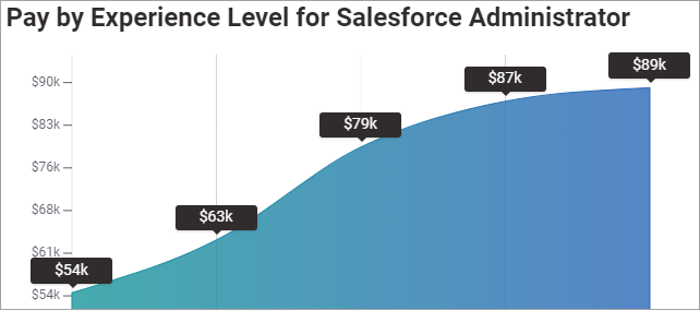 Pay for Experienced Salesforce Adminisistartor