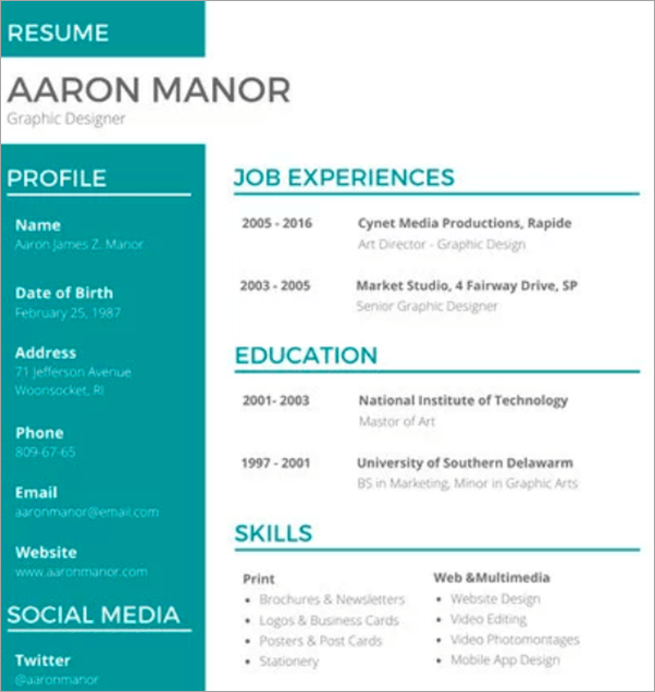 graphic design resume guide  example and templates for 2019