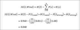 calculate information gain