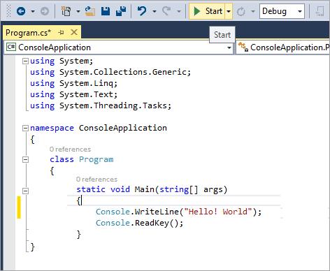 A typical c# program