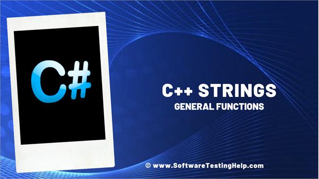 C++ Strings_ General Functions
