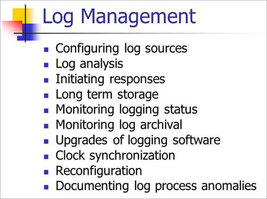 Log management Features