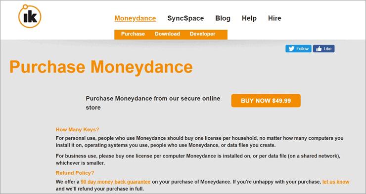 Moneydance Pricing