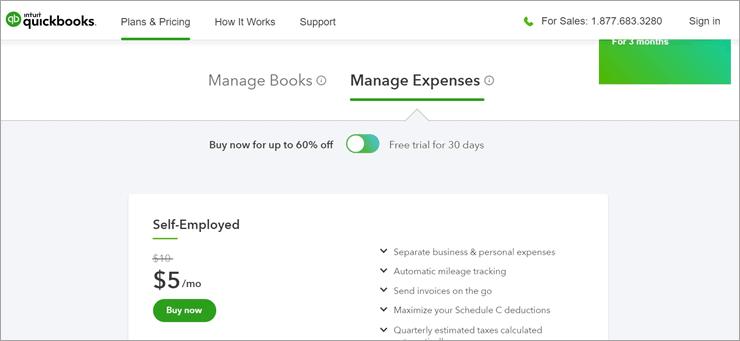 QuickBooks Pricing For Managing Expenses