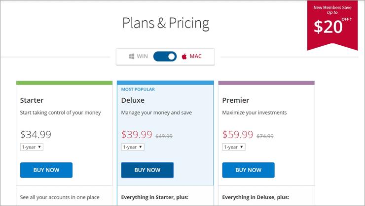 Quicken Pricing Mac
