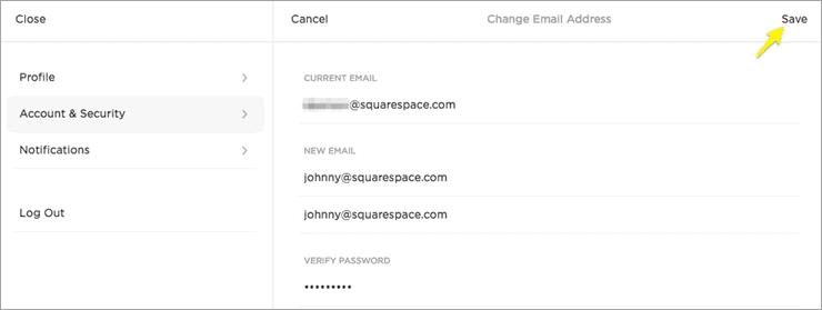 Squarespace Dashboard