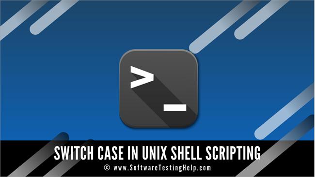 Switch Case in Unix Shell Scripting