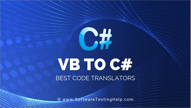 C# To VB.Net Code Translators