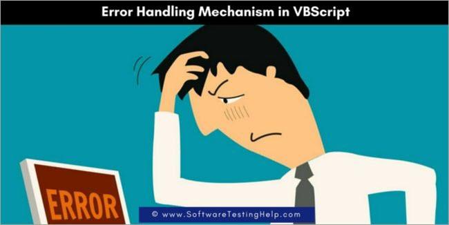 Vbscript Error Handling Vbscript On Error On Error Goto 0