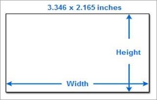 Western European Business Card Size