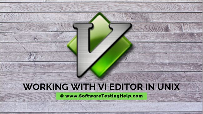 Working with Vi Editor in Unix