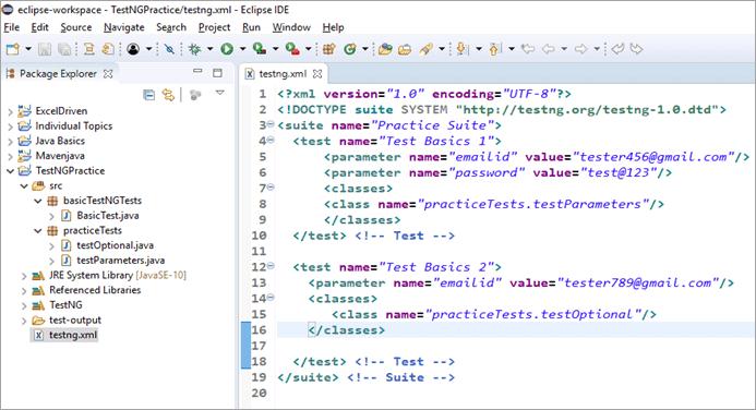 Sample TestNG.xml file
