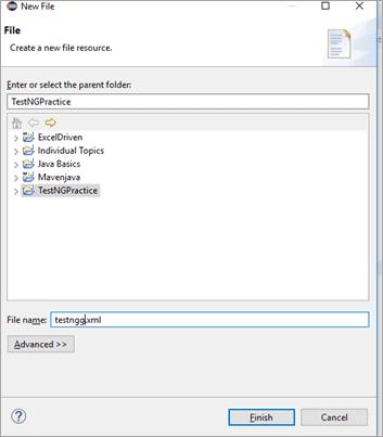 Add file name as 'testng.xml'