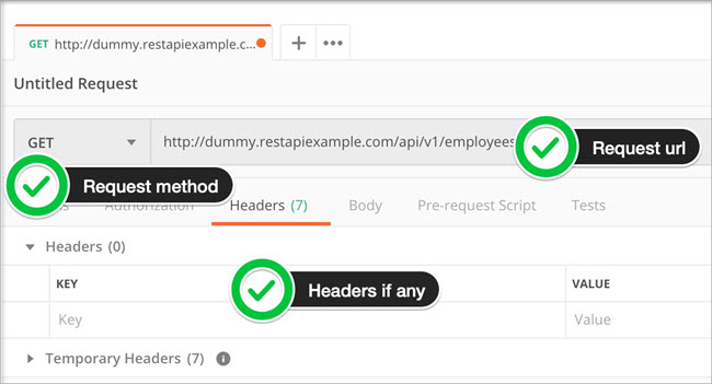 Create Dummy Request