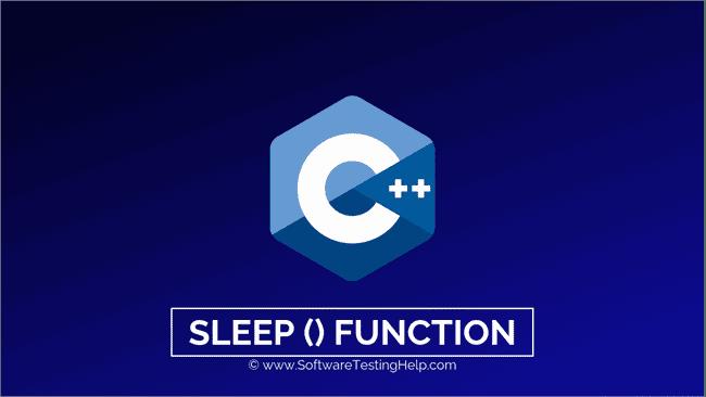 C++ Sleep () function