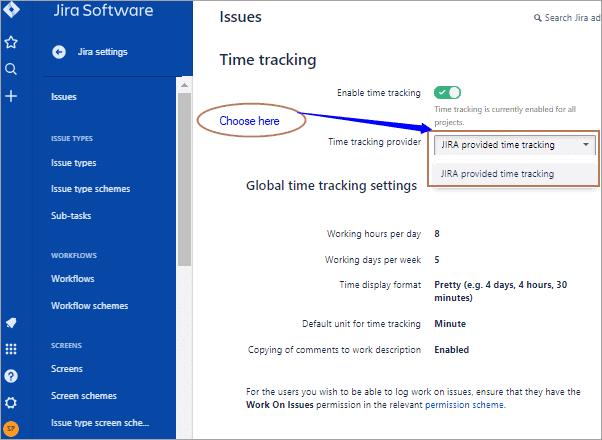 Change default time tracking provider
