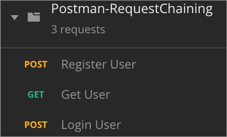 Postman Request Chaining